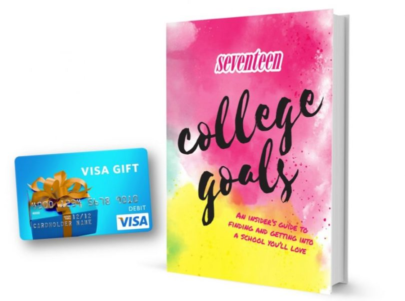 Giving away: $50 Visa Gift cardc & (1) Seventeen: College Goals An Insider's Guide to Finding and Getting Into A School You'll Love by the Editors ofSeventeenMagazine. @Seventeen #College Goals