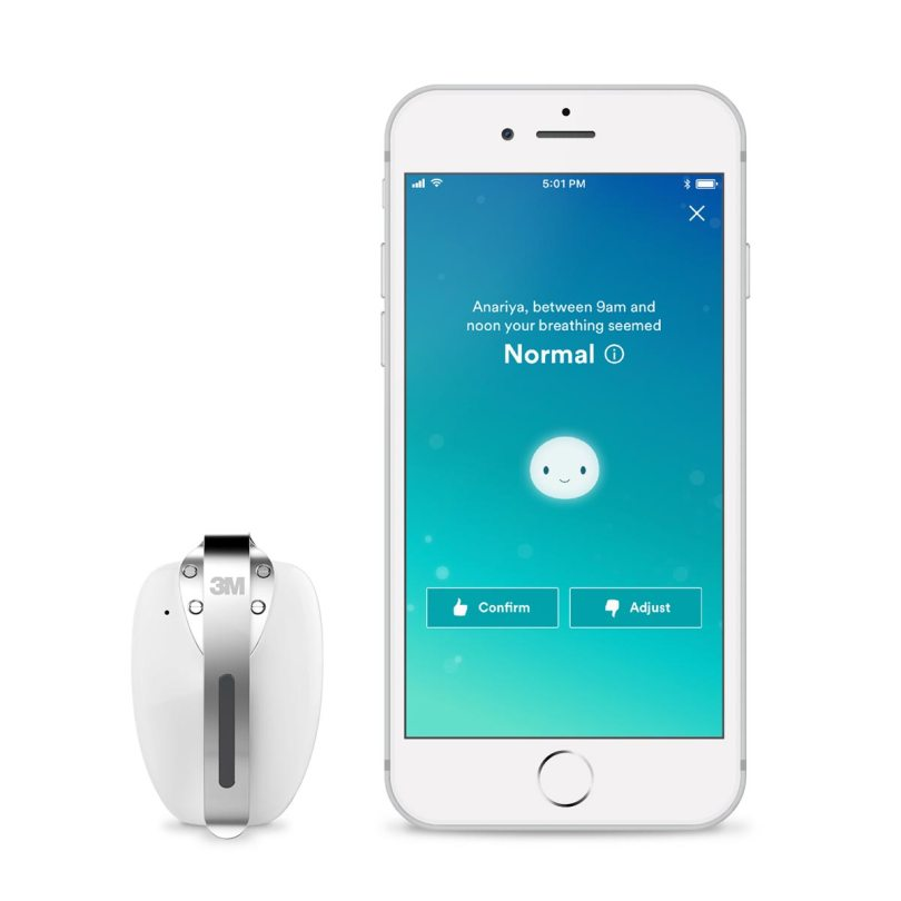 3MTM Respiratory Tracker will help you and I take control of our breathing as part of living a healthy lifestyle. The tracker is paired with an app on your phone will give you insights into what triggers your asthma and/or allergy attacks