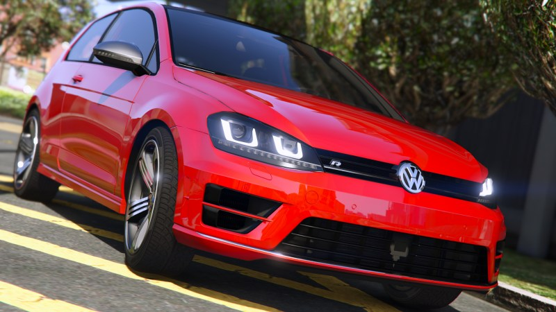 volkswagen golf vii r 3d model gta v