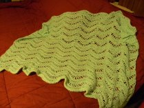 Prayer shawl, yarn, ripples