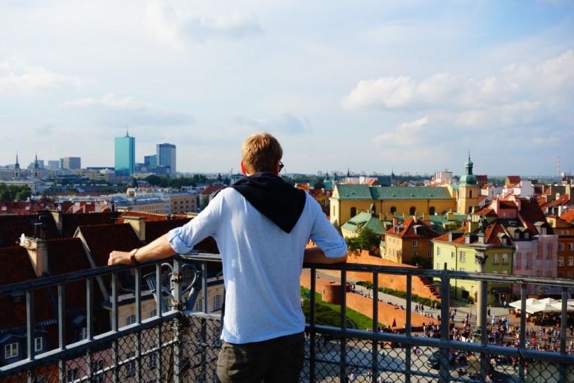 City Warschau uitzicht vanaf St Anne's church 1