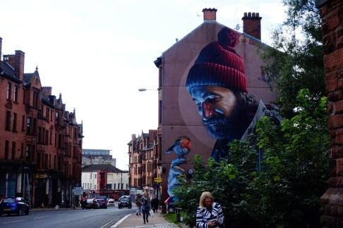 Glasgow route Schotland