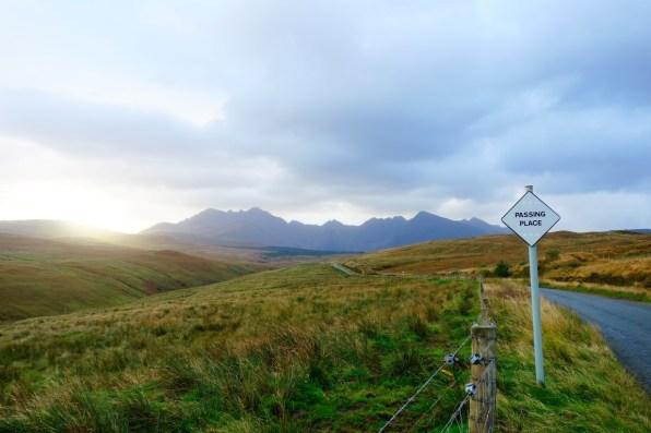 roadtrip Schotland single lane