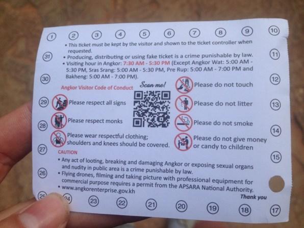 Angkor ticket
