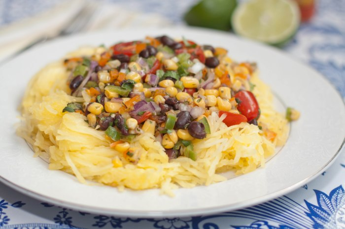 Trick your senses by switching out the pasta for spaghetti squash! Then top it with this super fresh, healthy, summery salsa!