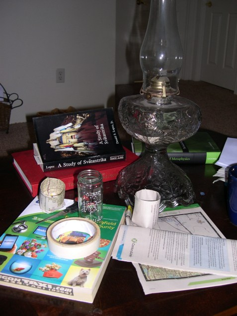 Old Telephone# book, tape, and herb jar.