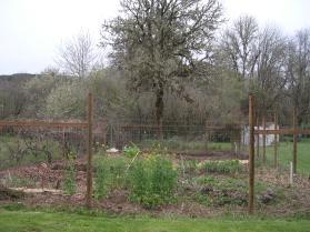 Garden Fence to keep the deer out, it's ten feet tall.