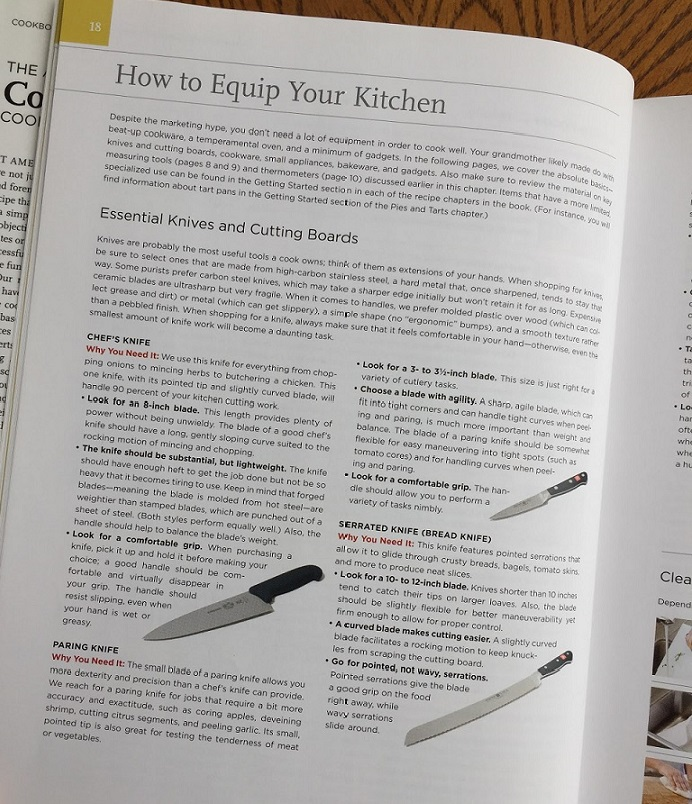 picture of kitchen knives for equipping a kitchen