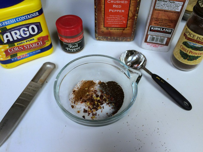 Mix together all of your spices.