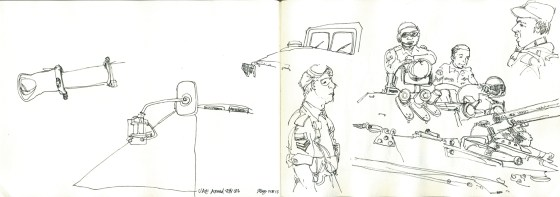 UAE Defence force were obliging and posed for me - artline pen