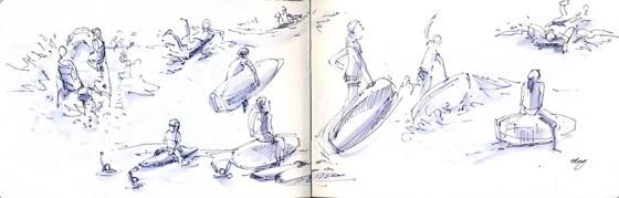 Arline felt pen and water brush pen