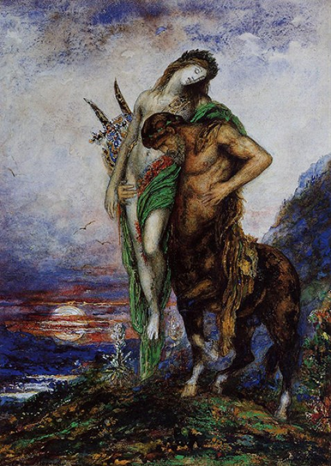 A Dead Poet being Carried by a Centaur musee gustave moreau
