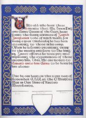 Garith Greylever - Award of Arms