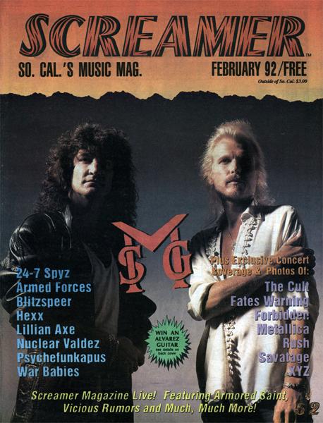 Screamer Magazine February 1992