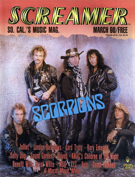 Screamer Magazine March 1990