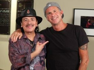 Chad Smith and Carlos Santana