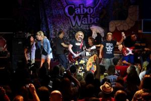 Kari Hagar, Denny Carmassi, Michael Anthony and The Wabos rock out at Hagar's annual Birthday Bash at Cabo Wabo Cantina, Sunday