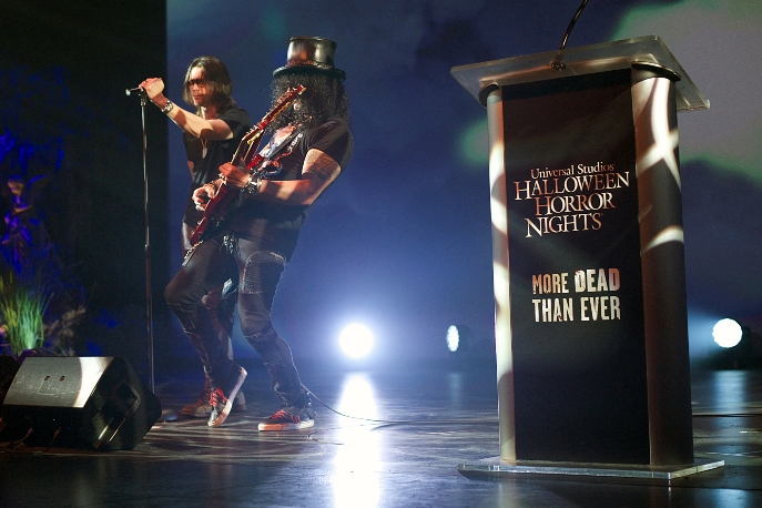 "Slash and Myles Kennedy perform ""Nothing Left To Fear"" at the Eyegore Awards.  Photo: Scott Uchida"