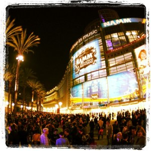 NAMM show outside pic 12-4-14