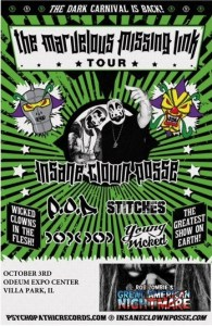 INSANE CLOWN POSSE GRT AMER NIGHTMARE 8-24-15