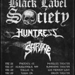 BLACK LABEL SOCIETY TOUR POSTER 9-26-15
