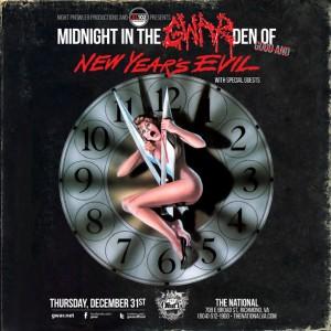GWAR new years evil