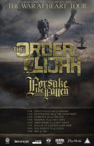 The Order of Elijah tour poster - 12-5-15