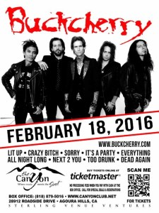 Buckcherry Poster 2016