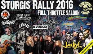 FULL THROTTLE SALOON - sturgis rally poster - 4-18-16