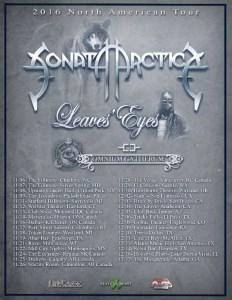 Sonata Arctica poster 2016