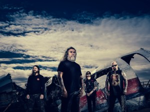 LEFT TO RIGHT: Paul Bostaph, Tom Araya, Gary Holt, Kerry King