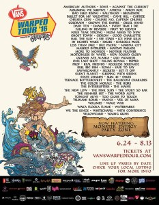 Vans Warped Tour 2016 poster 2