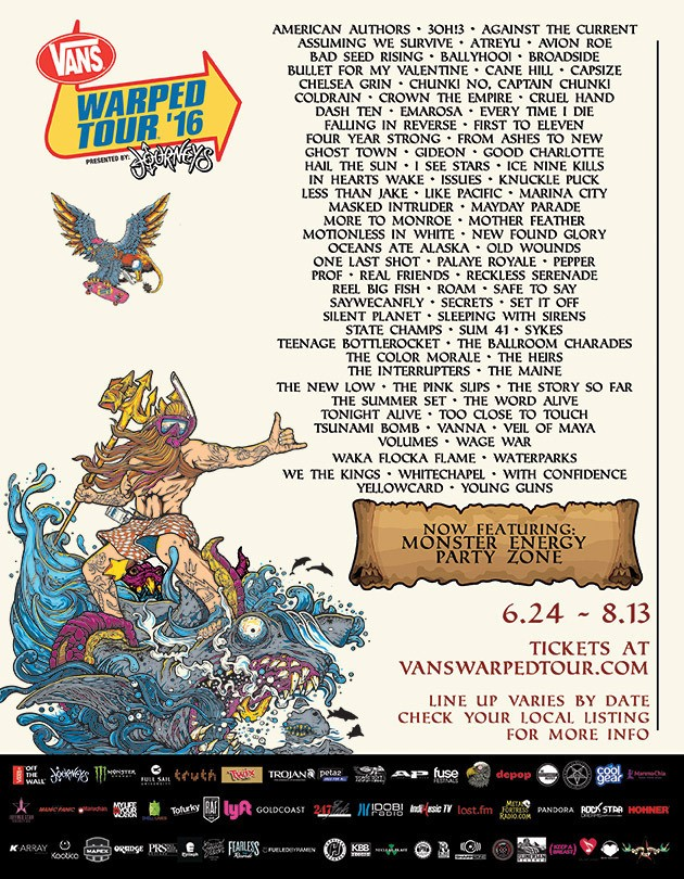 Vans Warped Tour Presented By Journeys June