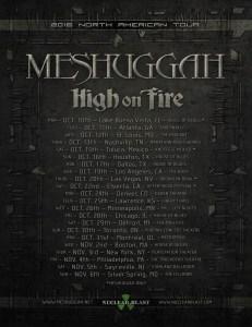 Meshuggah poster 2016