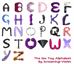 Sex Toy Alphabet