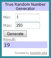Give Away Winner!