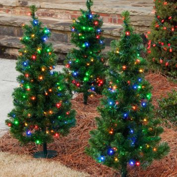 enchanting-small-christmas-trees-with-colorful-lights-for-outdoor-decor