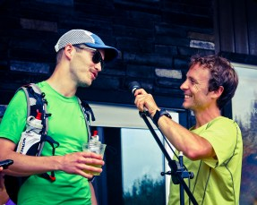 """Top-notch Canadian ultramarathoner Adam Campbell asks Jordan what motivated him to come run his first ultra. An awesome reply: """"Mmm... Foolishness?"""""""
