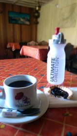 Dejeuner at the Col de Balme kitchen... Sure beats energy gels and granola bars.