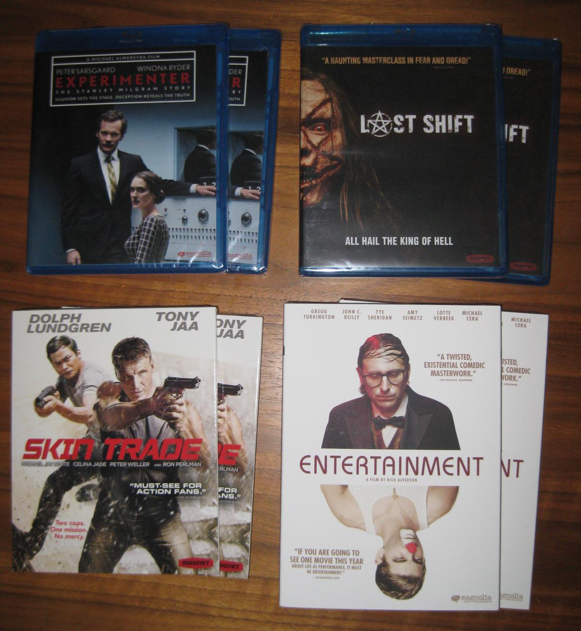 [GIVEAWAY] Magnolia/Magnet Giveaway Extravaganza! Win Copies of 'Experimenter', 'Last Shift', 'Skin Trade' & 'Entertainment'; Each Now Available From Magnolia & Magnet 21