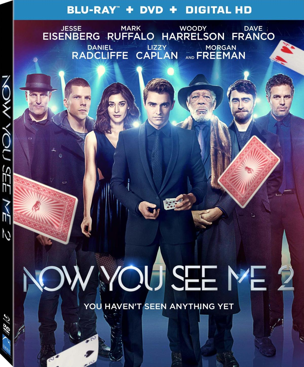 'Now You See Me 2'; Available On Digital HD August 23 & On 4K Ultra HD, Blu-ray & DVD September 6, 2016 from Lionsgate 1