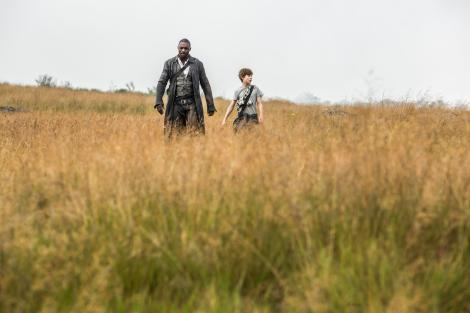 Roland Deschain (Idris Elba) and Jake Chambers (Tom Taylor) in Columbia Pictures' THE DARK TOWER.