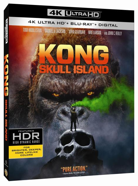 'Kong: Skull Island'; Arrives On Digital June 20 & On 4K Ultra HD, Blu-ray 3D, Blu-ray & DVD July 18, 2017 From Warner Bros 3