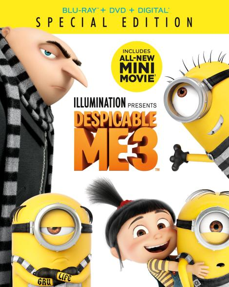 'Despicable Me 3'; Arrives On Digital November 21 & On 4K Ultra HD, Blu-ray, 3D Blu-ray & DVD December 5, 2017 From Illumination & Universal 4