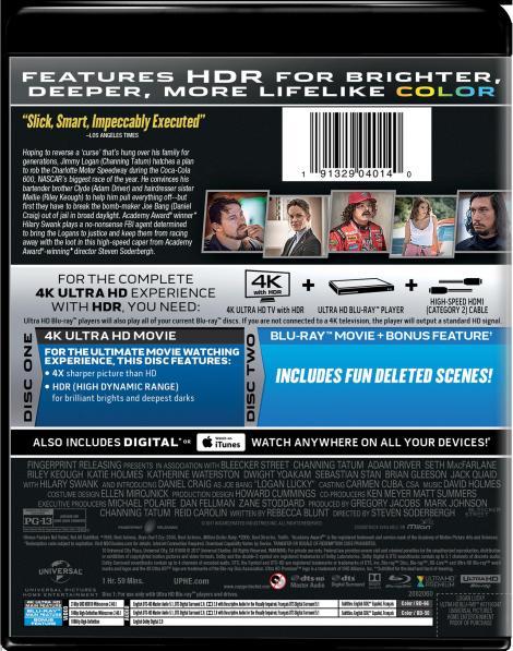 'Logan Lucky'; Arrives On Digital November 14 & On 4K Ultra HD, Blu-ray & DVD November 28, 2017 From Universal 5