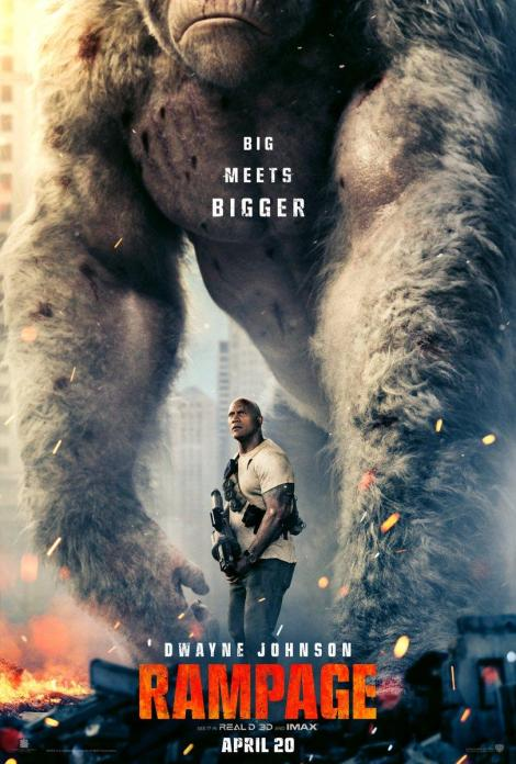 The First Trailer & Poster For The 'Rampage' Movie With Dwayne Johnson Stomp Their Way Online 2