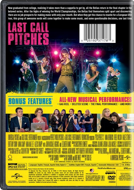 'Pitch Perfect 3'; Arrives On Digital March 1 & On 4K Ultra HD, Blu-ray & DVD March 20, 2018 From Universal 12