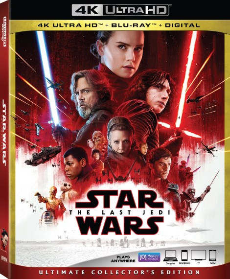 'Star Wars: The Last Jedi'; Arrives On Digital March 13 & On 4K Ultra HD, Blu-ray & DVD March 27, 2018 From Lucasfilm 4