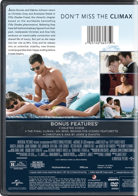'Fifty Shades Freed' Unrated; Arrives On Digital April 24 & On 4K Ultra HD, Blu-ray & DVD May 8, 2018 From Universral 12