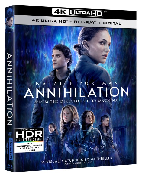 'Annihilation'; Arrives On Digital May 22 & On Blu-ray, DVD & 4K Ultra HD* May 29, 2018 From Paramount 3